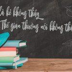 Lời cảm ơn của học sinh đối với thầy cô giáo chủ nhiệm